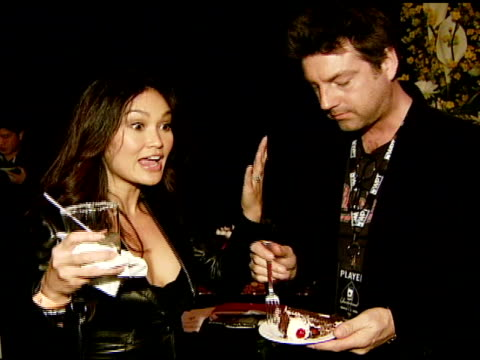 stockvideo's en b-roll-footage met tia carrere at the 6th annual world poker tour at the commerce casino in los angeles, california on march 2, 2008. - tia carrere