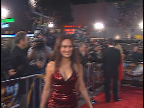 vídeos de stock, filmes e b-roll de tia carrere at the any given sunday premiere at westwood in westwood ca - tia carrere