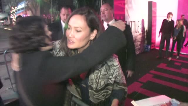 vídeos de stock, filmes e b-roll de los angeles after party in westwood at the celebrity sightings in los angeles at los angeles ca - tia carrere