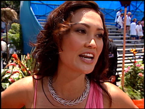tia carrere at the 'lilo and stitch' premiere at the el capitan theatre in hollywood california on june 16 2002 - el capitan theatre stock videos & royalty-free footage