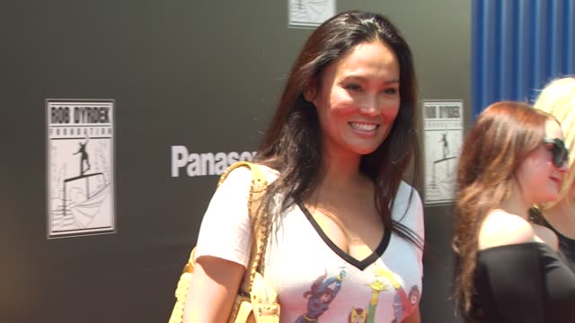 stockvideo's en b-roll-footage met tia carrere at the rob dyrdek foundation sk8 4 life benefit presented by panasonic & carl's jr at los angeles ca. - tia carrere