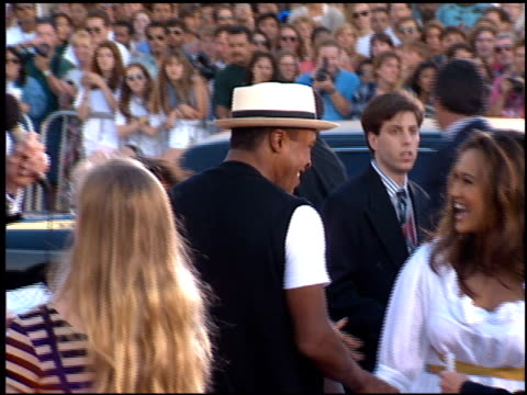 stockvideo's en b-roll-footage met tia carrere at the 'true lies' premiere on july 12, 1994. - tia carrere