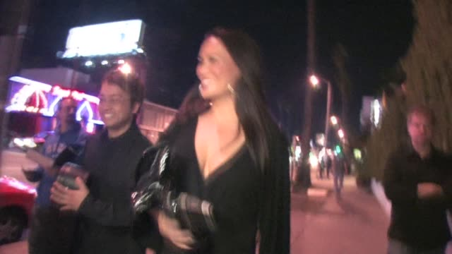 stockvideo's en b-roll-footage met tia carrere outside falcon in west hollywood at the celebrity sightings in los angeles at los angeles ca. - tia carrere