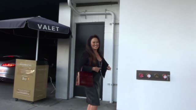 stockvideo's en b-roll-footage met tia carrere outside palihouse in west hollywood in celebrity sightings in los angeles, - tia carrere