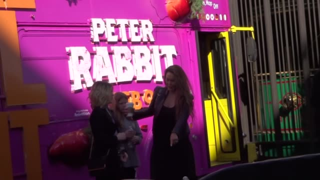 Tia Carrere with fans at the premiere of 'Peter Rabbit' at The Grove in Los Angeles at Celebrity Sightings in Los Angeles on February 03 2018 in Los...