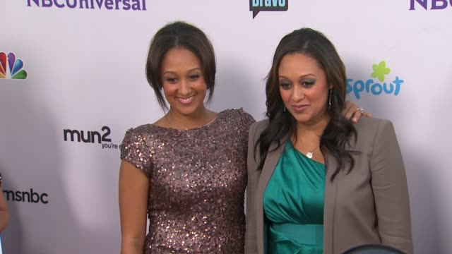 tia mowry tamera mowry at the nbc universal press tour allstar party at los angeles ca - tamera mowry stock videos and b-roll footage