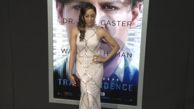 tia mowryhardrict at the transcendence los angeles premiere at regency village theatre on april 10 2014 in westwood california - regency style stock videos and b-roll footage