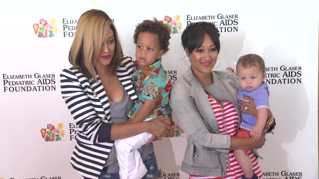 tia mowryhardrict tamera mowryhousley at elizabeth glaser pediatric aids foundation's 24th annual a time for heroes event on 6/2/13 in los angeles ca - tamera mowry stock videos and b-roll footage