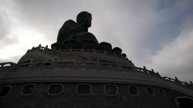 tian tan buddha in china, low angle - tian tan buddha stock videos and b-roll footage