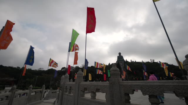 pov,tian tan buddha ruins in hong kong - tian tan buddha stock videos and b-roll footage