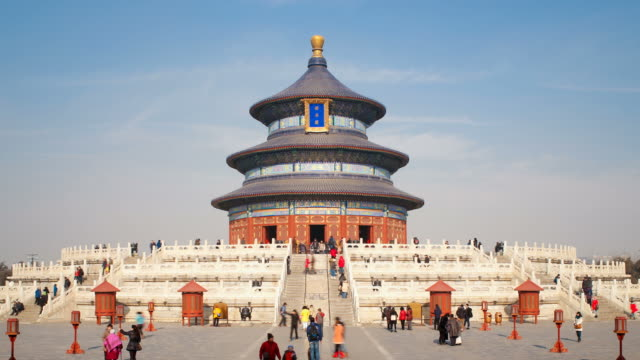 Tian Tan complex, Temple of Heaven, Qinian Dian temple, Beijing, PRC, People's Republic of China, Asia - Time lapse