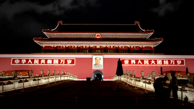 tiananmen, gate of heavenly peace, beijing - forbidden city stock videos & royalty-free footage