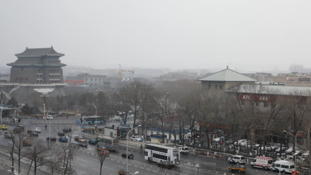 Tiananmen square after the heavy snow,Beijing