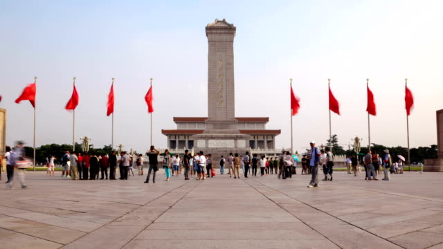 tiananmen square, beijing - tiananmen square stock videos & royalty-free footage