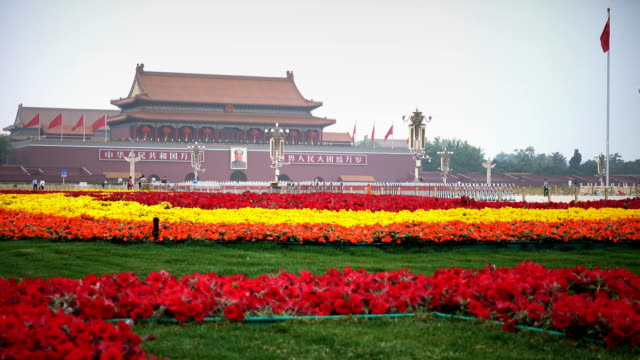 tian'anmen square during the festival,beijing,china. - tiananmen square stock videos & royalty-free footage