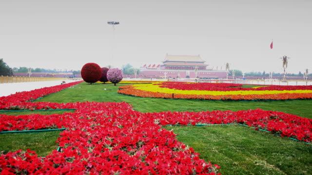 tian'anmen square during the festival,beijing,china. - 中国国家博物館点の映像素材/bロール