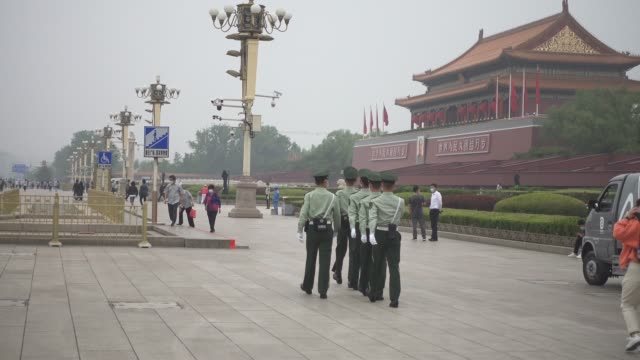 tiananmen square during the national day,beijing,china. - beijing stock videos & royalty-free footage