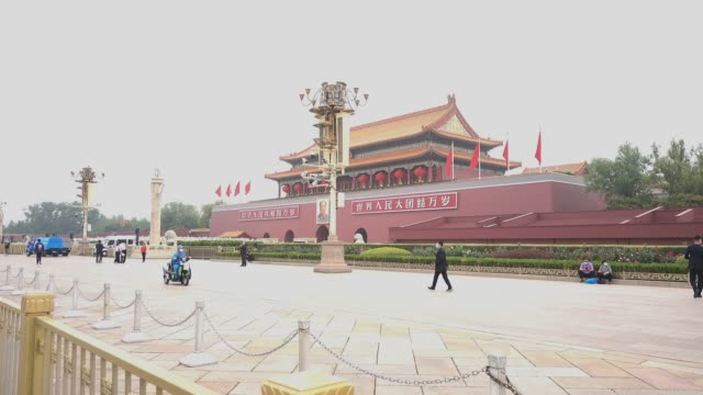 tiananmen square during the national day,beijing,china. - 中国国家博物館点の映像素材/bロール