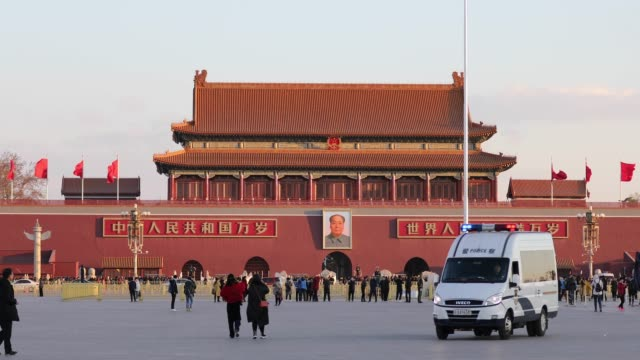 tiananmen square,beijing - beijing stock videos & royalty-free footage