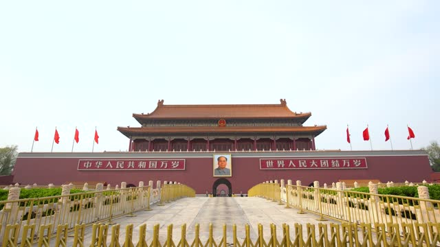 tiananmen tower in beijing, china - democracy stock videos & royalty-free footage