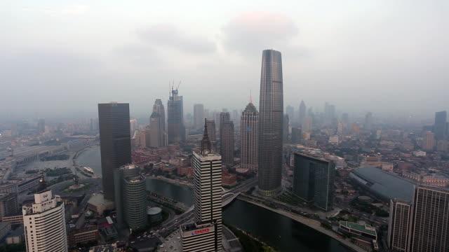 tianjin dusk - hai river stock videos & royalty-free footage
