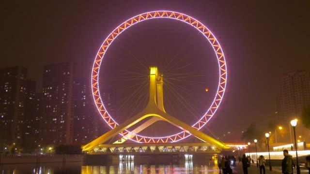 tianjin eye, tianjin, china - hai river stock videos & royalty-free footage