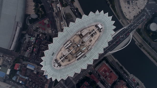 Tianjin Global financial center aerial view