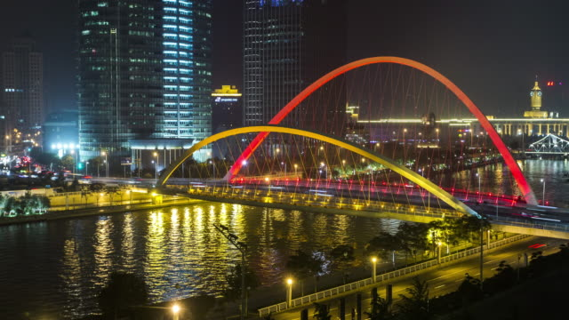 tianjin haihe river time lapse - hai river stock videos & royalty-free footage