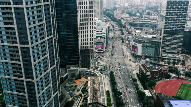 tianjin office building and traffic time lapse