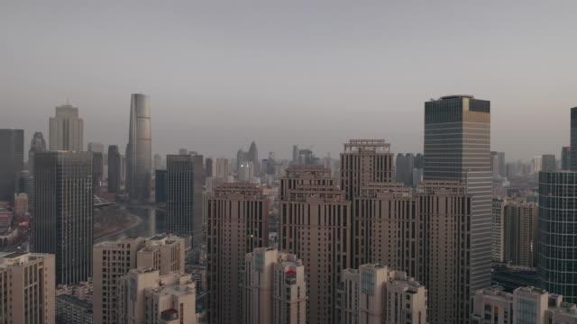 tianjin skyline - liyao xie stock videos & royalty-free footage