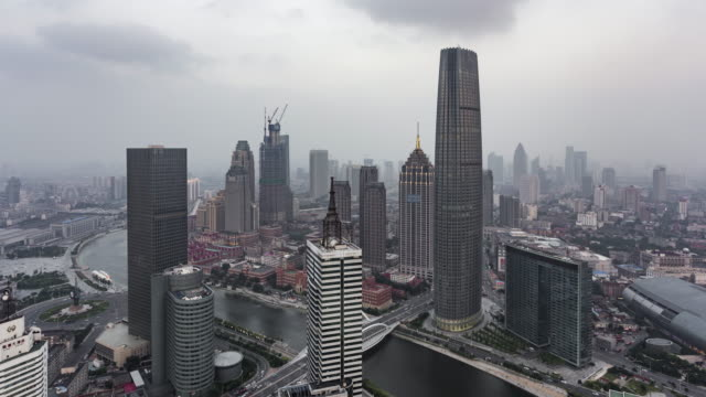 tianjin sunset time lapse - hai river stock videos & royalty-free footage