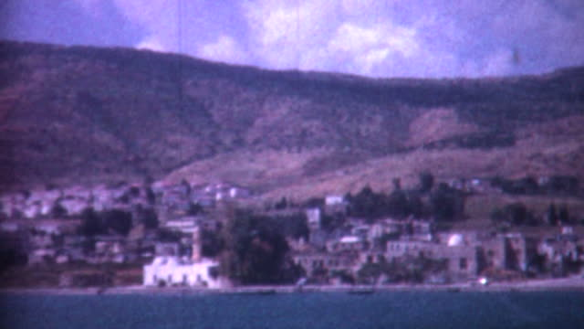 tiberias on sea of galilee 1962 - archives stock videos & royalty-free footage