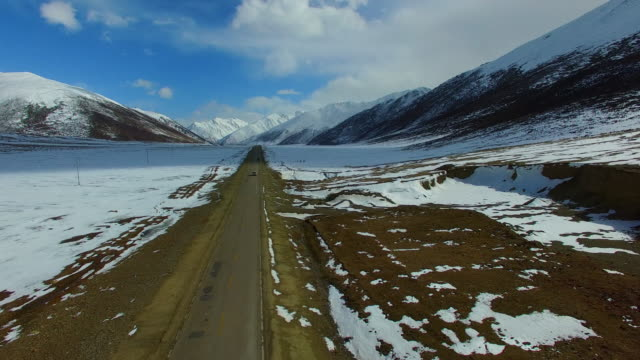 tibet landscape, tibet, china. - mountain road stock videos & royalty-free footage