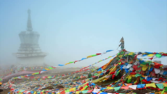 tibet prayer flags - traditionally tibetan stock videos & royalty-free footage