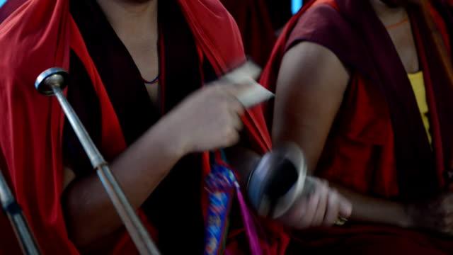 Tibetische buddhistische Mönch.