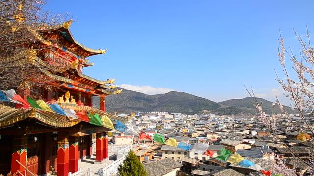 Tibetan Temple Pavilion in Shangri-la Town of Yunnan, China