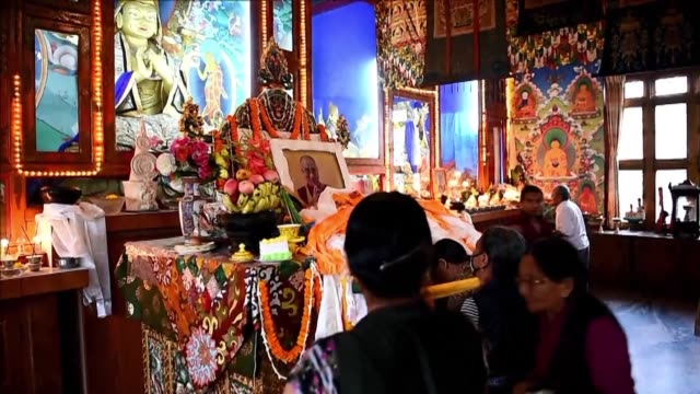 tibetans in kathmandu celebrate dalai lama's 82 birthday with prayers songs and dances - traditionally tibetan stock videos & royalty-free footage