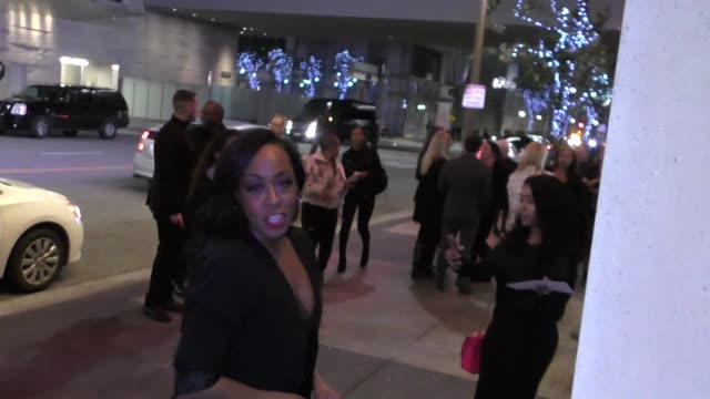 INTERVIEW Tichina Arnold talks about singing Little Shop Of Horrors outside the Sleepless Premiere at Regal Cinema in Los Angeles in Celebrity...