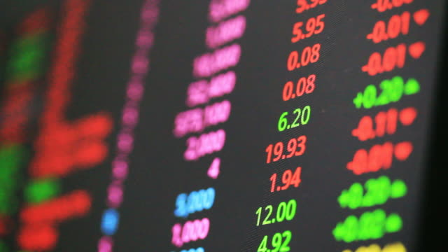 ticker board in exchange stock market - new york stock exchange stock videos and b-roll footage