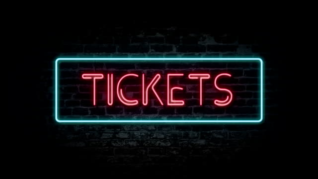 tickets neon sign - ticket stock videos & royalty-free footage
