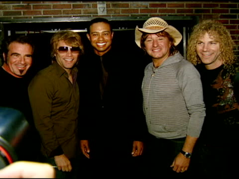 Tico Torres Jon Bon Jovi Tiger Woods Richie Sambora and David Bryan at the Tiger Jam X Presented by ATT at Mandalay Bay Resort Casino in Las Vegas...
