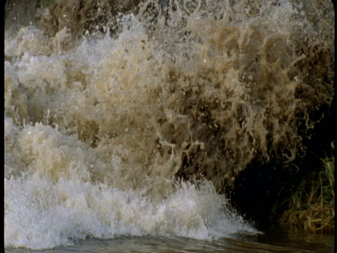 tidal bore scours the banks of the river severn. - flood stock videos & royalty-free footage