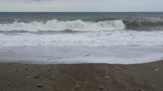 tidal waves on beach at Cabo de Gata
