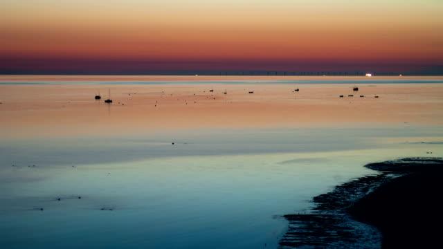"""Tide coming in at dusk, timelapse"""