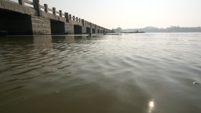 Tide rises under Luoyang bridge, Quanzhou, Fujian, China