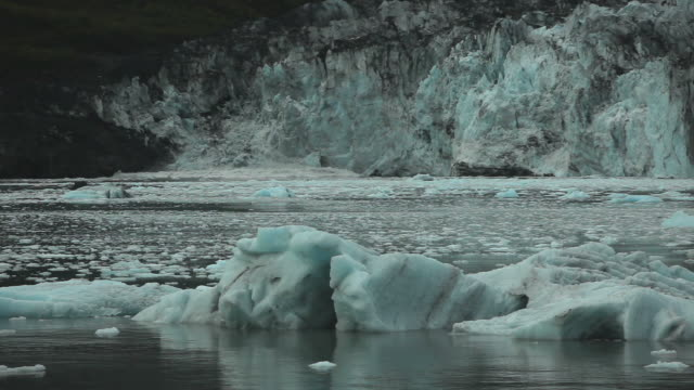 Tide Water Glacier in the Evening HD