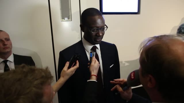 Tidjane Thiam chief executive officer of Prudential Plc and incoming chief executive officer for Credit Suisse Group AG after a news conference in...