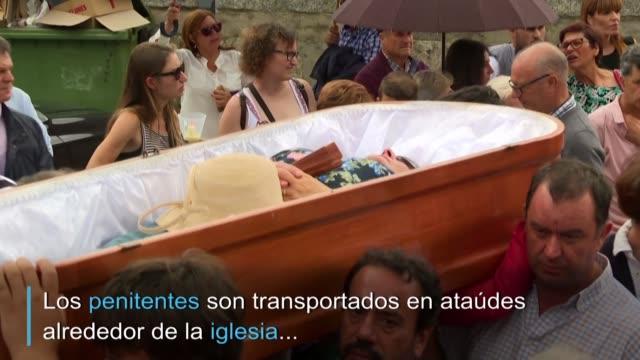 tiene lugar cada 29 de julio en el pueblo nieves en galicia - galicia stock videos & royalty-free footage