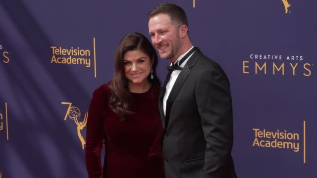 tiffani thiessen and brady smith at the 2018 creative arts emmy awards day 1 at microsoft theater on september 08 2018 in los angeles california - tiffani thiessen stock videos & royalty-free footage