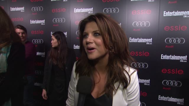 interview tiffani thiessen on awards season on the new season of white collar at entertainment weekly hosts celebration honoring the screen actors... - entertainment weekly stock-videos und b-roll-filmmaterial